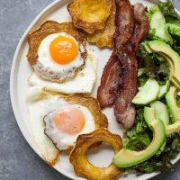 Baked Eggs in Squash Rings (Paleo, Gluten-free)