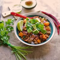 Bacon and Sweet Potato Chili