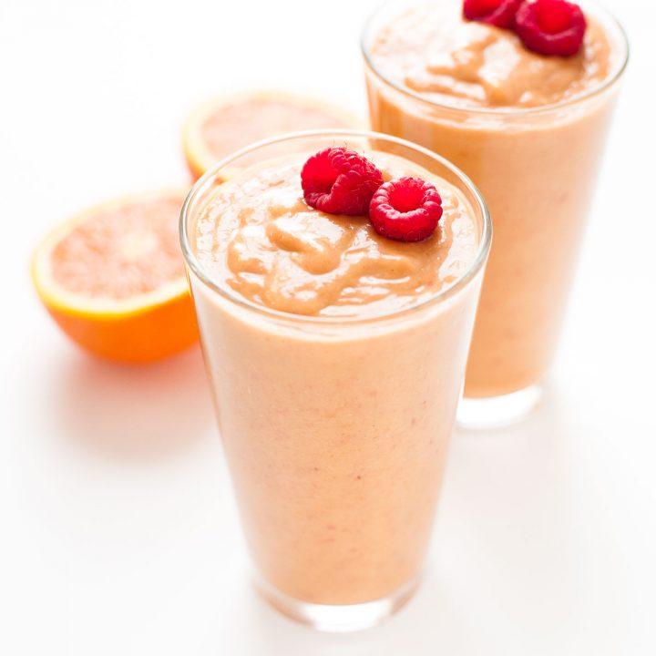 Orange Peach Raspberry Smoothie