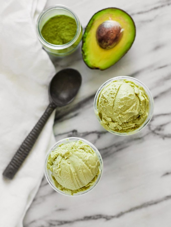Matcha Avocado Ice Cream