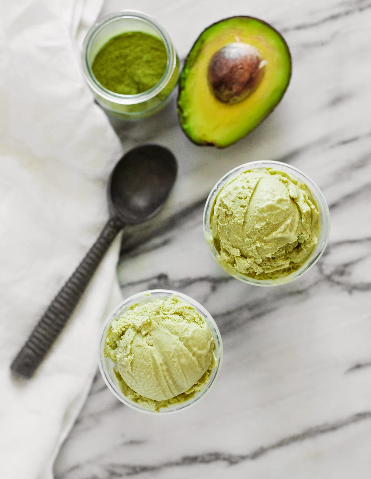 Matcha Avocado Ice Cream - A Calculated Whisk