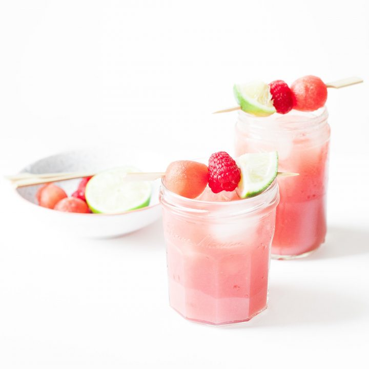 Watermelon Raspberry Agua Fresca