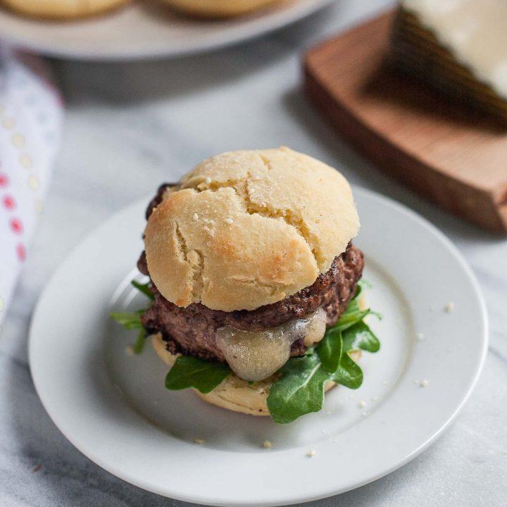 Stuffed Lamb Burgers with Paleo Burger Buns