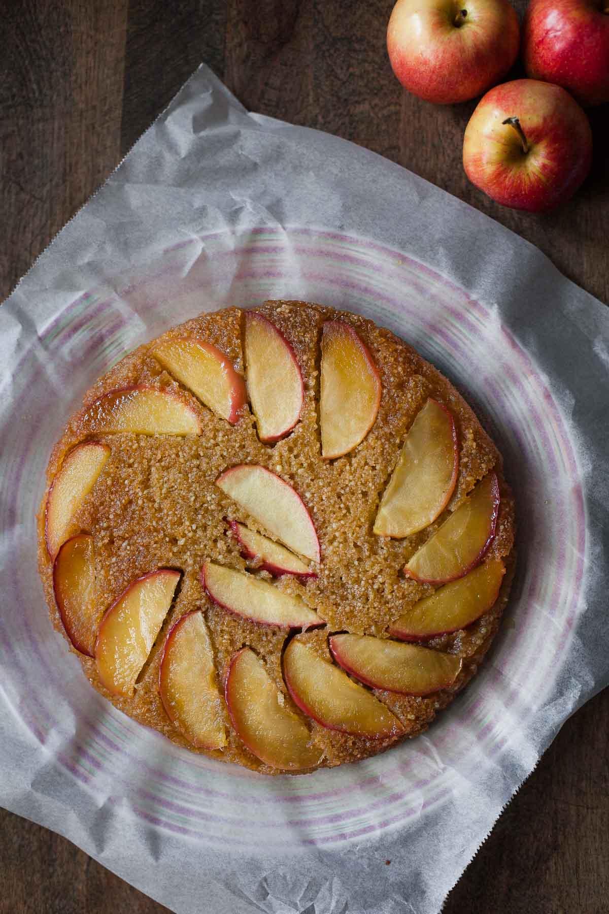 Olive Oil Apple Honey Cake