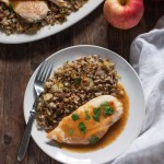 Cider-Glazed Chicken with Roasted Cauliflower Rice (Paleo, Whole30)
