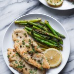 Paleo Chicken Piccata with Asparagus