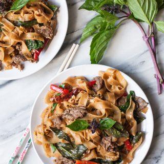 Thai Basil Noodles with Beef (Drunken Noodles)