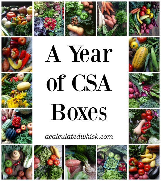 A Year of CSA Boxes + Farm Share FAQs