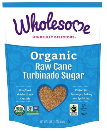 Wholesome Organic Raw Cane Turbinado Sugar, Fair Trade, Non GMO, 1.5 lbs, (Single unit)
