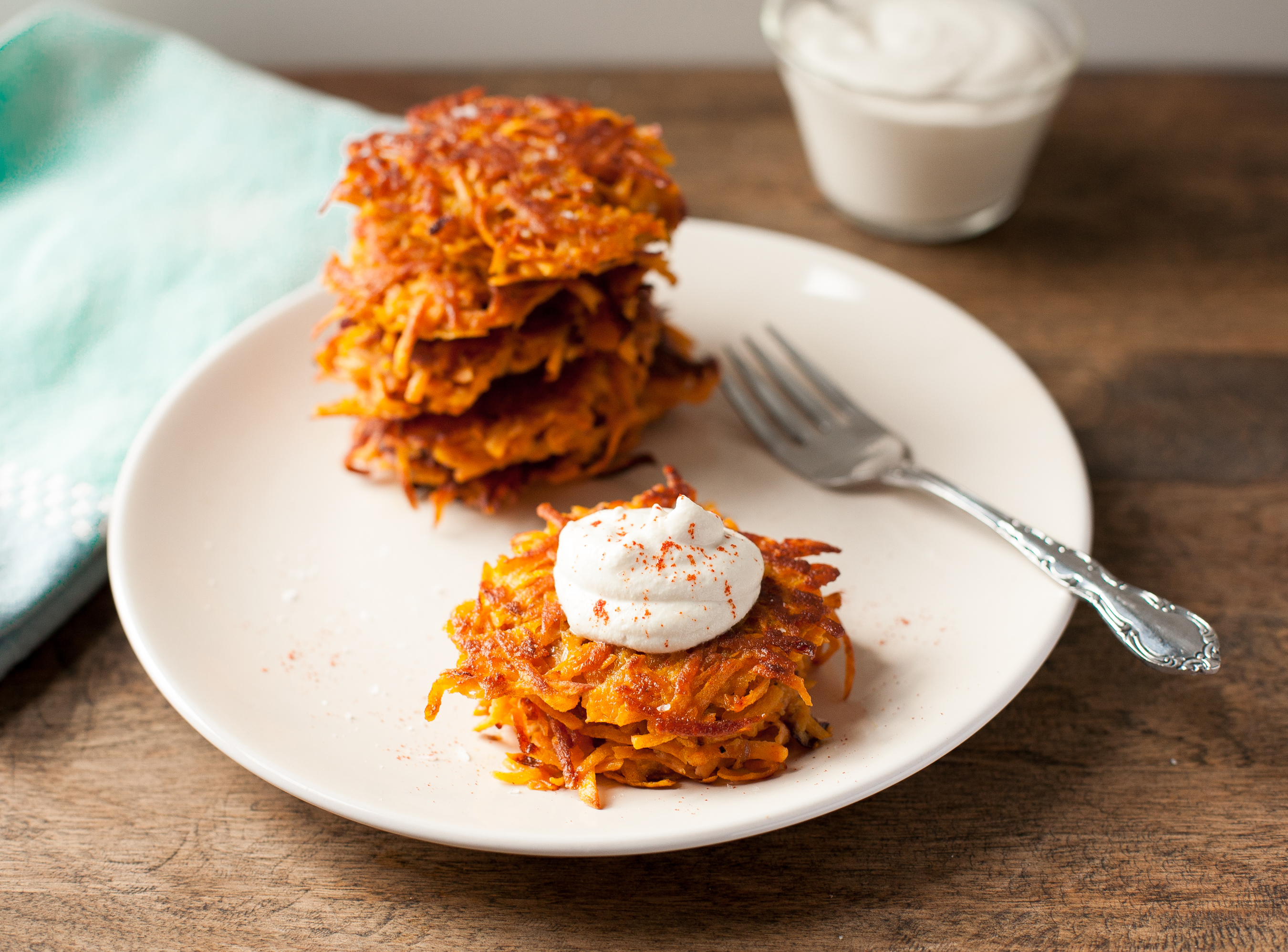 Smoky Sweet Potato Latkes from Paleo Planet