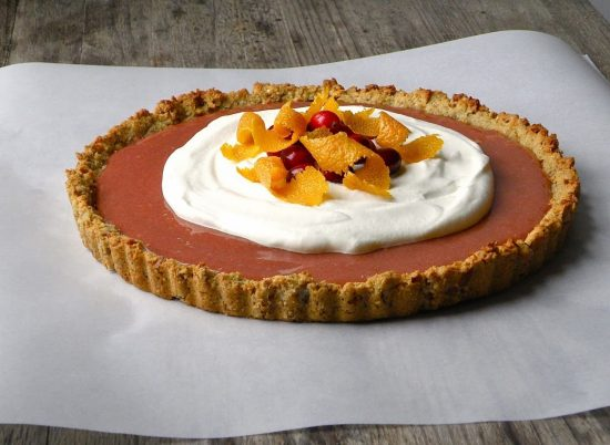 20 Unique Gluten-free Thanksgiving Desserts: Cranberry Orange Tart