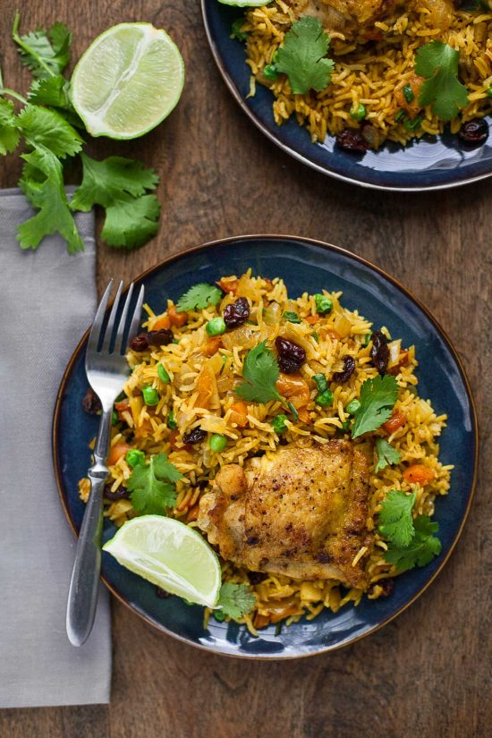 One-Pot Turmeric Chicken and Rice - A Calculated Whisk