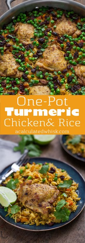 One-Pot Turmeric Chicken and Rice (Gluten free)