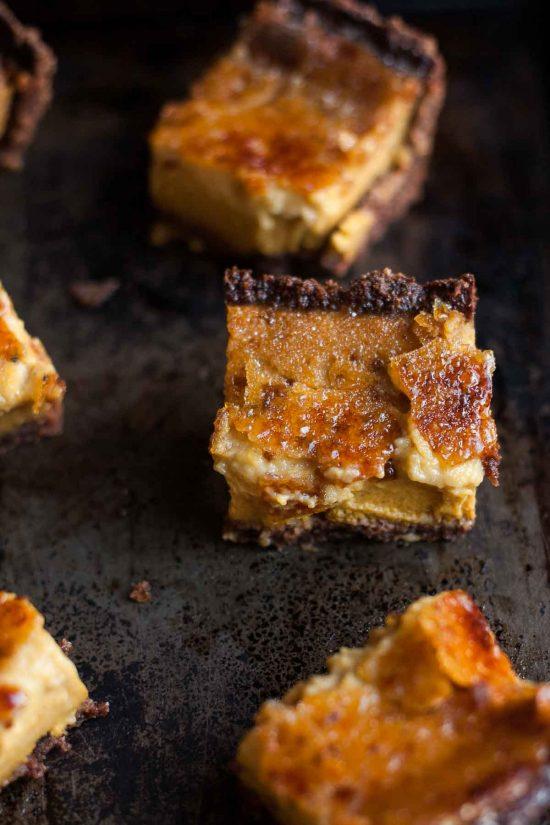 20 Unique Gluten-free Thanksgiving Desserts: Pumpkin Crème Brûlée Pie Bars