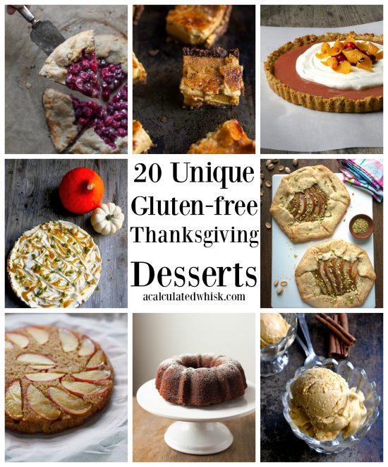 20 Unique Gluten-free Thanksgiving Desserts