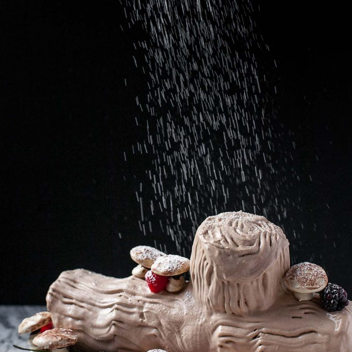 No-Bake Gingerbread Buche de Noel