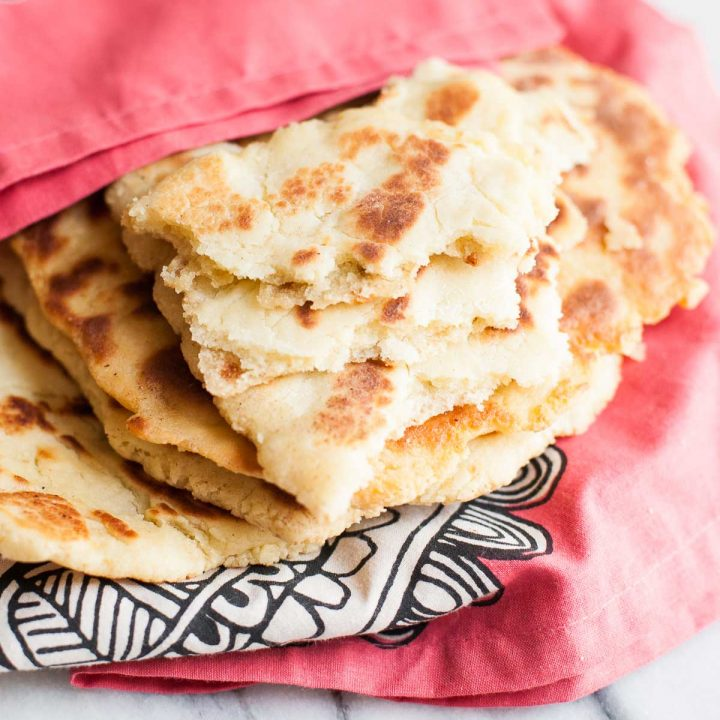 Top 16 Paleo Recipes of 2016: Paleo Flatbread (Naan)