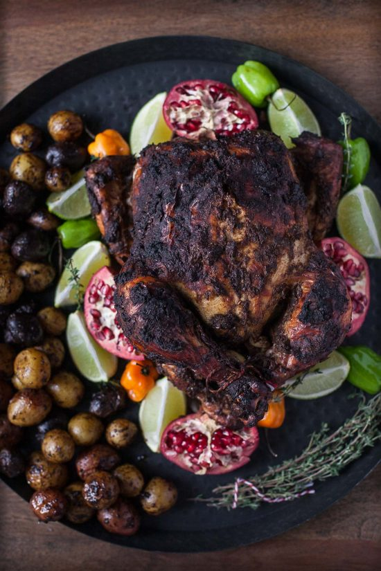 Pomegranate Roasted Jerk Chicken (Gluten free, Paleo)