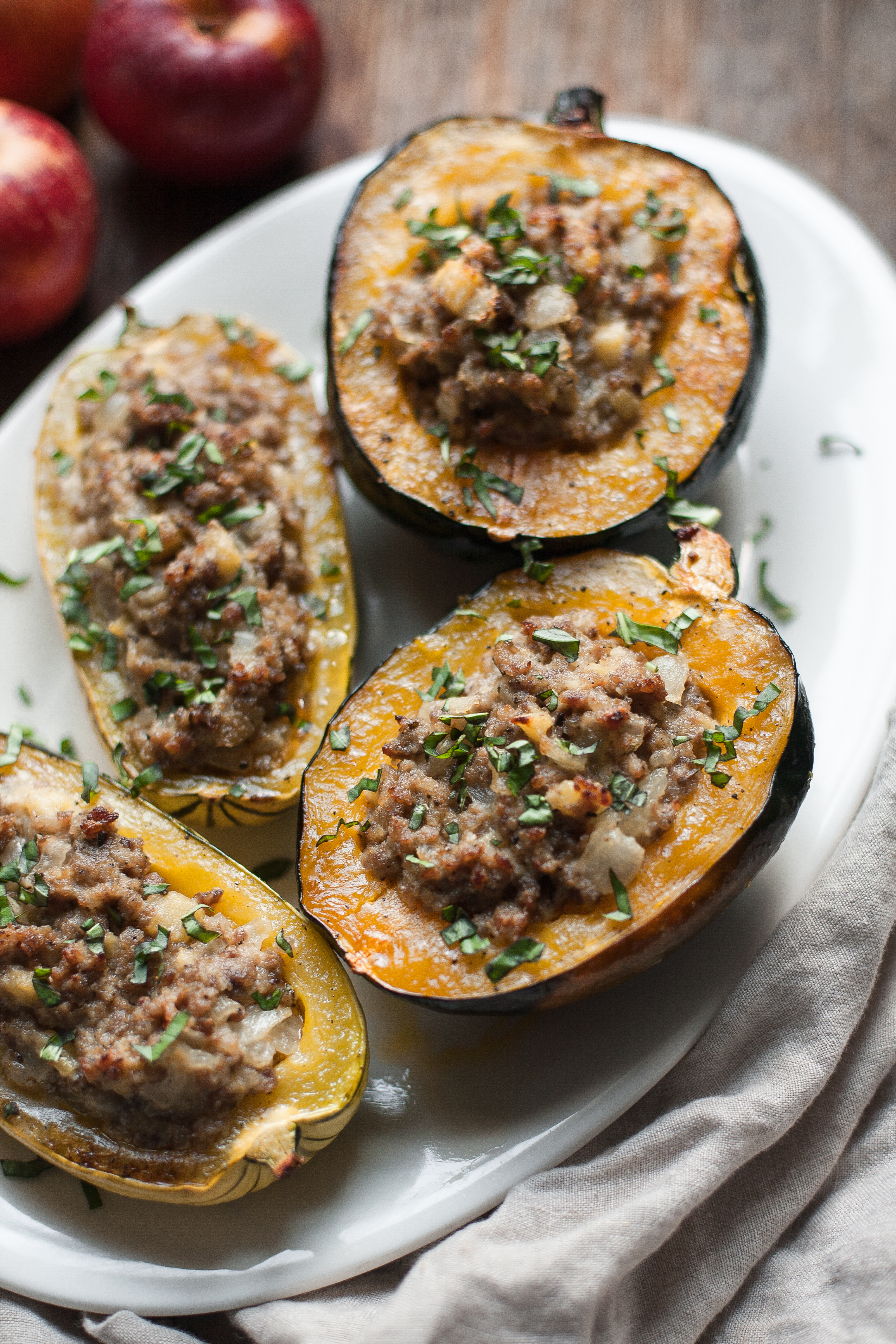 Top 16 Paleo Recipes of 2016: Stuffed Squash with Sausage and Apple