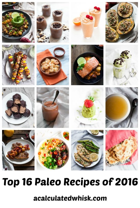 Top 16 Paleo Recipes of 2016