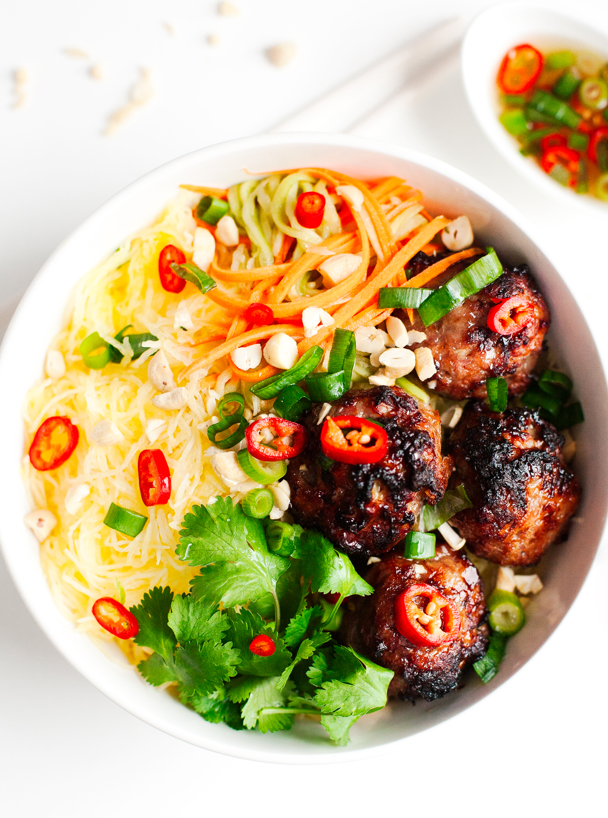 "Top 16 Paleo Recipes of 2016: Vietnamese Caramelized Pork Meatball ""Vermicelli"" Bowl"