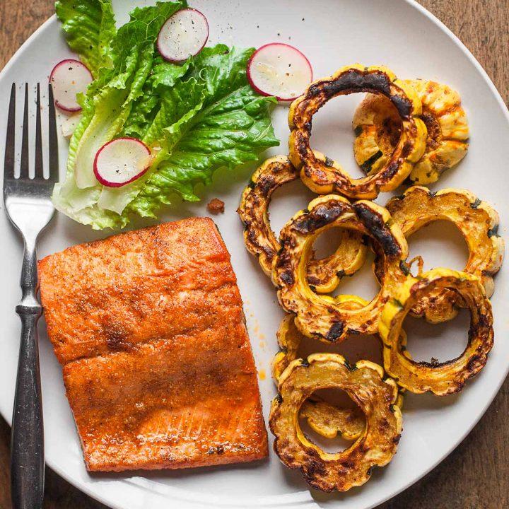 Sheet Pan Salmon and Delicata Squash