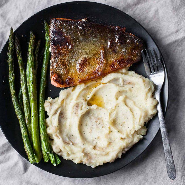 Crispy Honey Butter Salmon