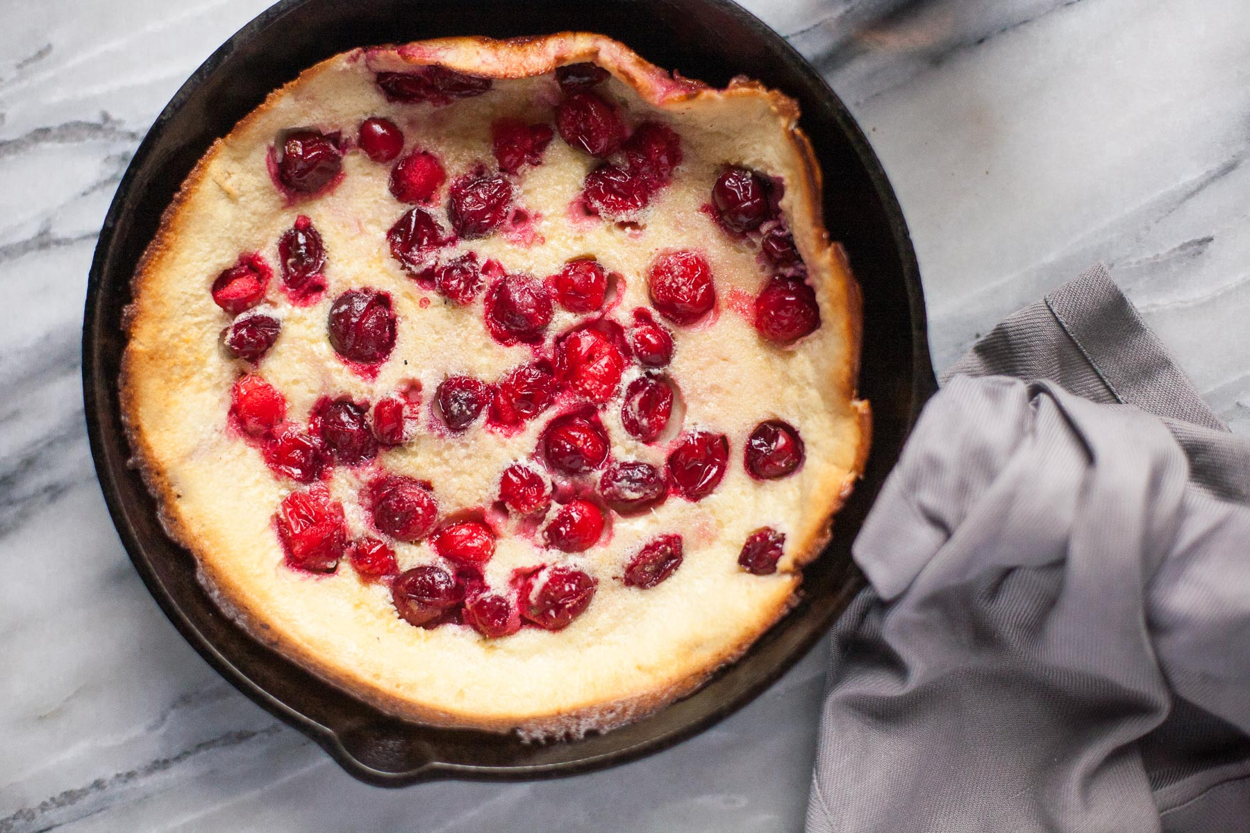 Weekday Morning Paleo Dutch Baby (Cranberry or Plain)
