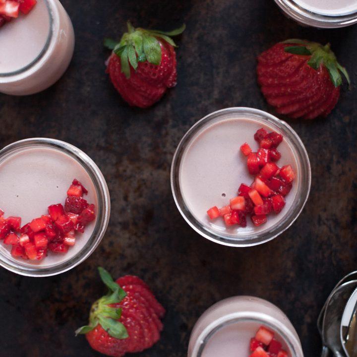 Strawberry Panna Cotta with Balsamic Vinegar