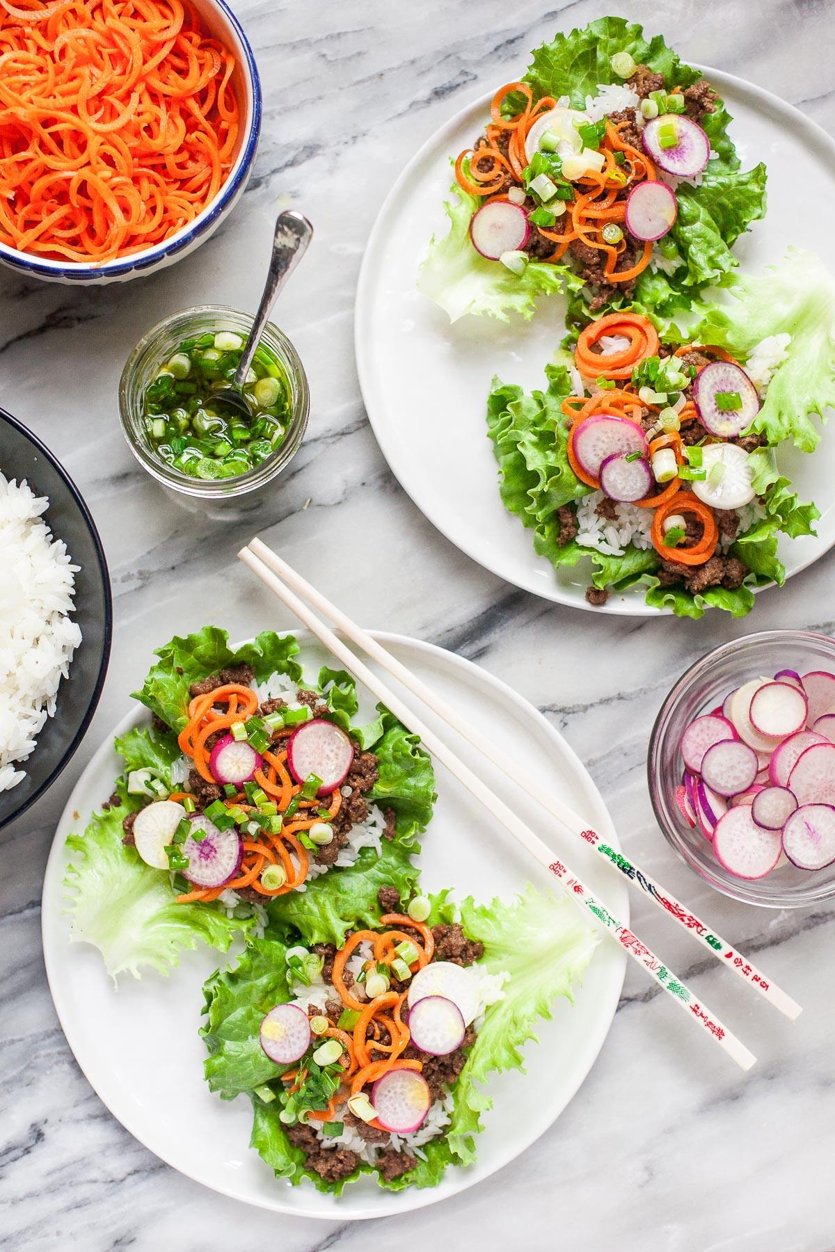 Vietnamese Beef Lettuce Wraps (Gluten free, Paleo Friendly)