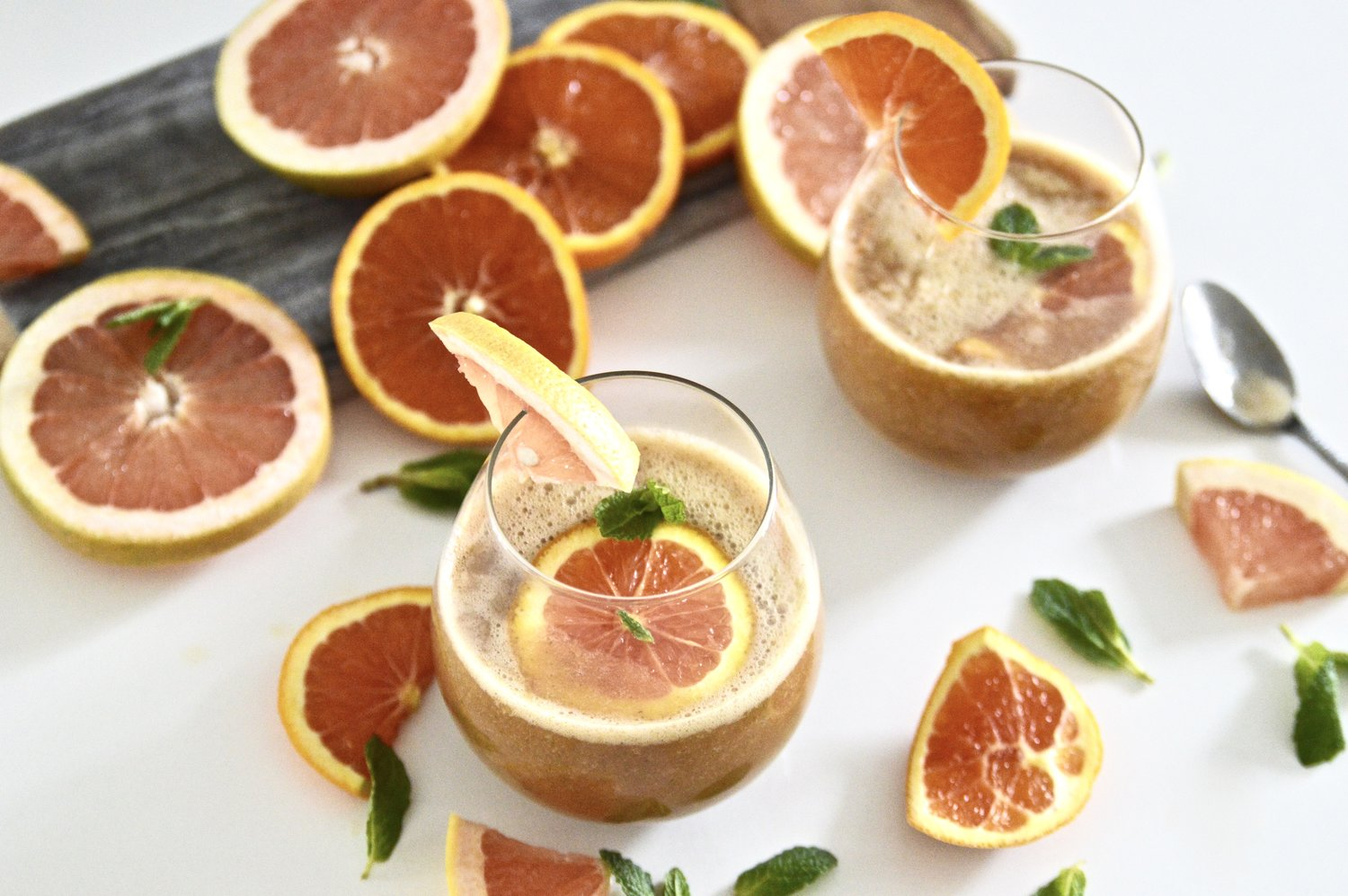 Citrus Mint Kombucha Cocktails