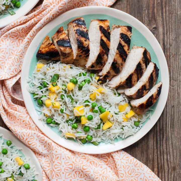 Marinated Jerk Chicken + How to Cook Rice on the Grill