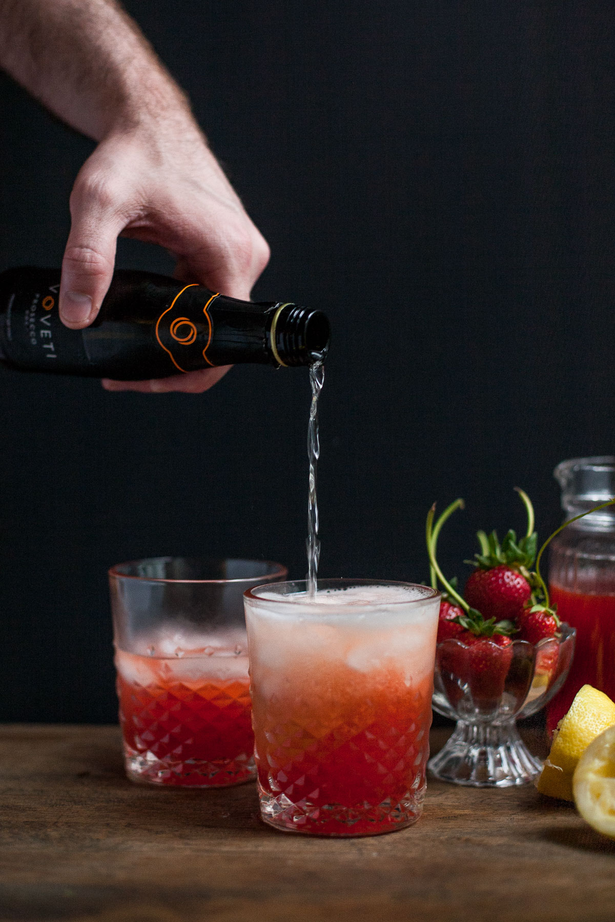 Strawberry Prosecco Lemonade