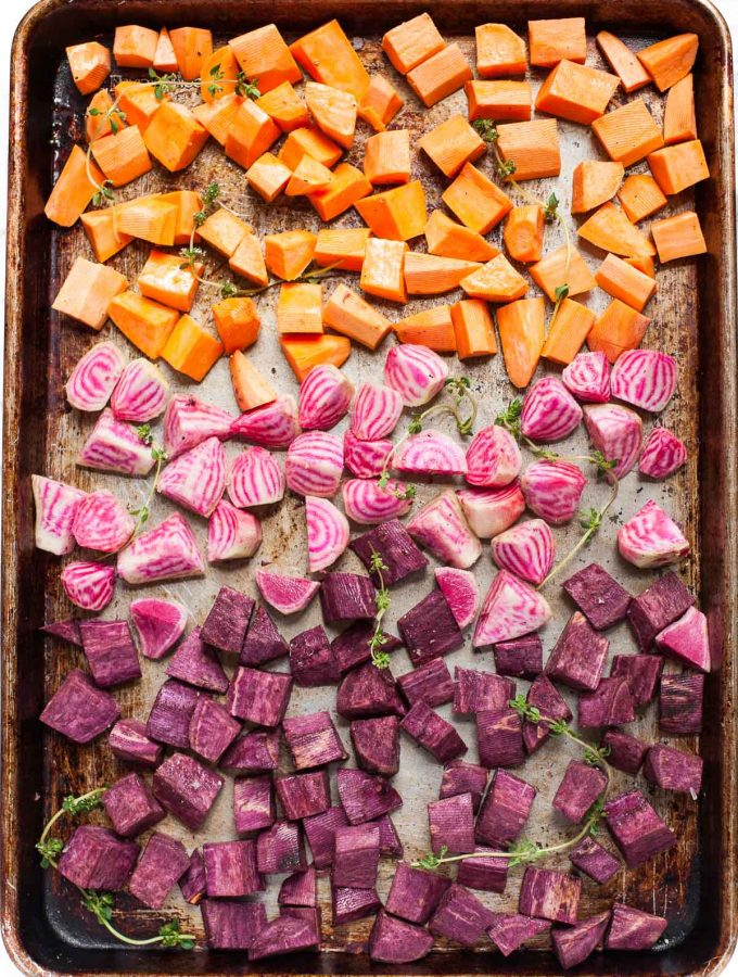 Roasted Beets & Sweet Potatoes