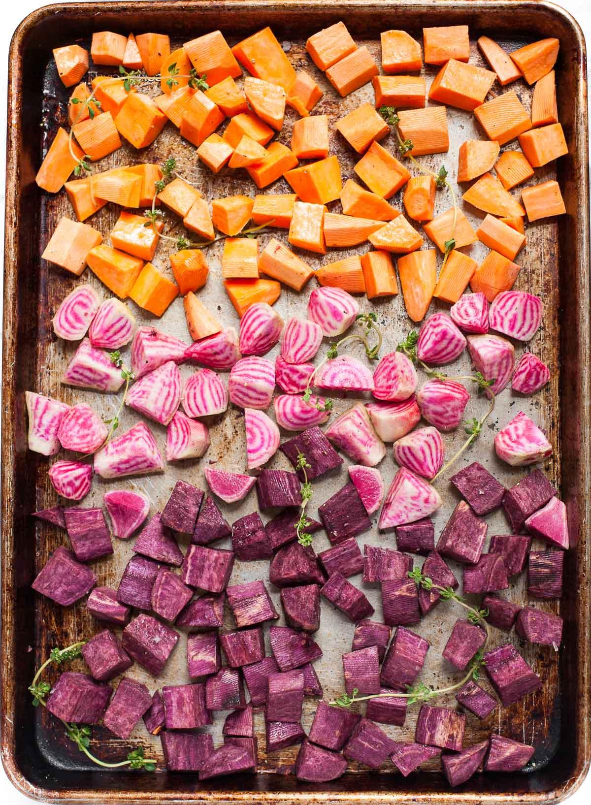 Roasted Beets & Sweet Potatoes