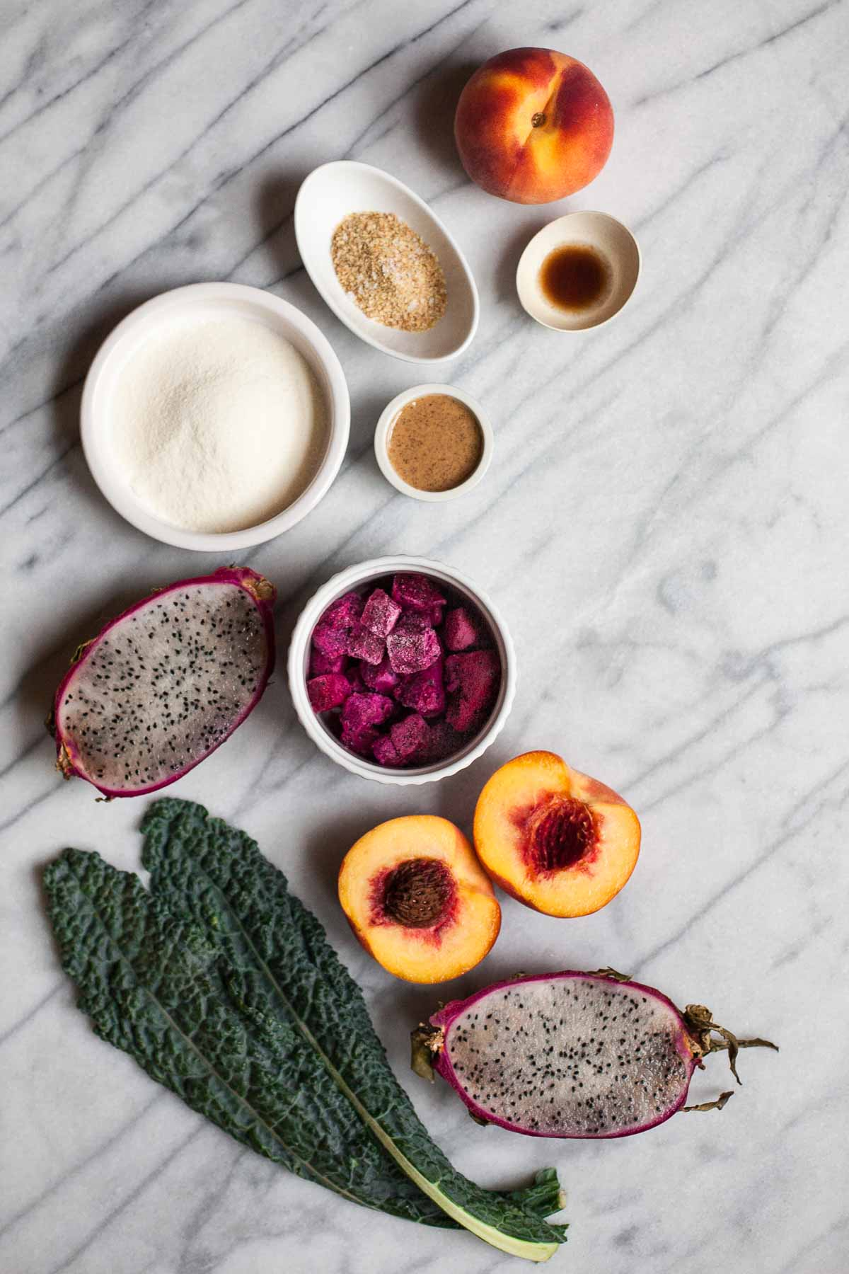 Pitaya Peach Smoothie (Paleo, Vegan friendly)