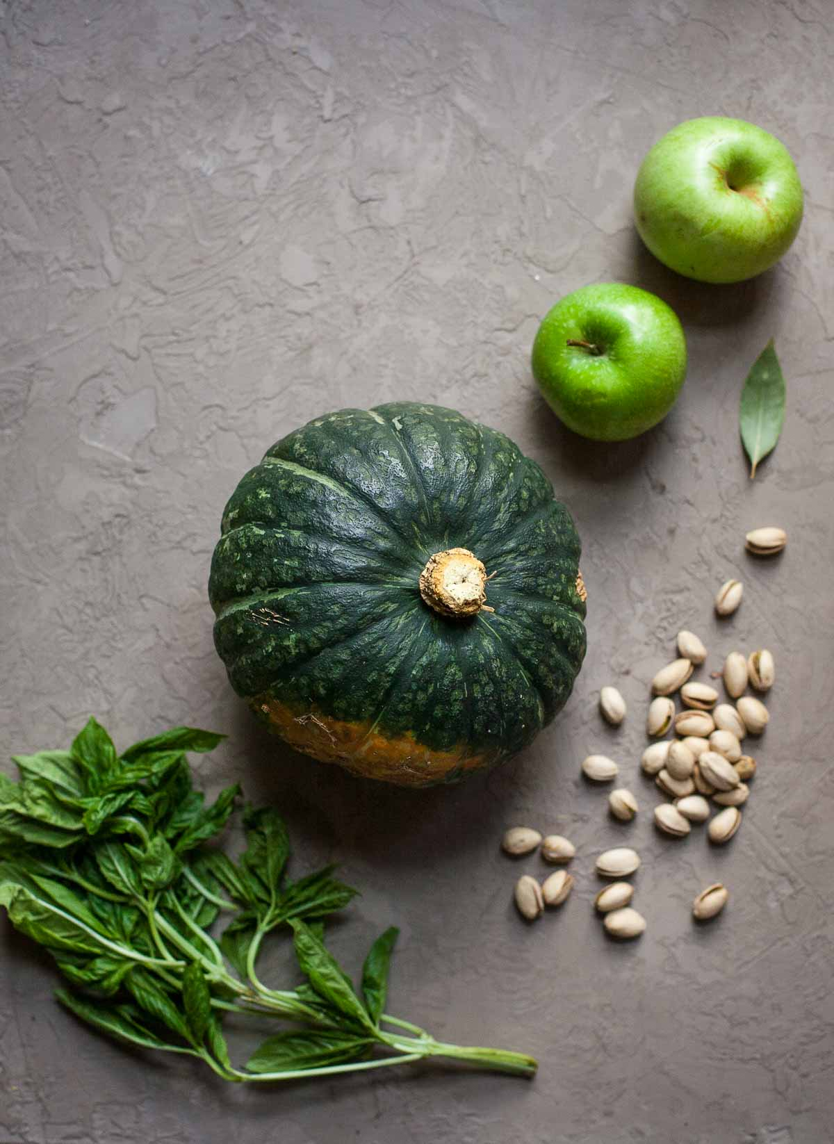 Hubbard Squash Soup with Pistachio Gremolata (Paleo, Whole30)