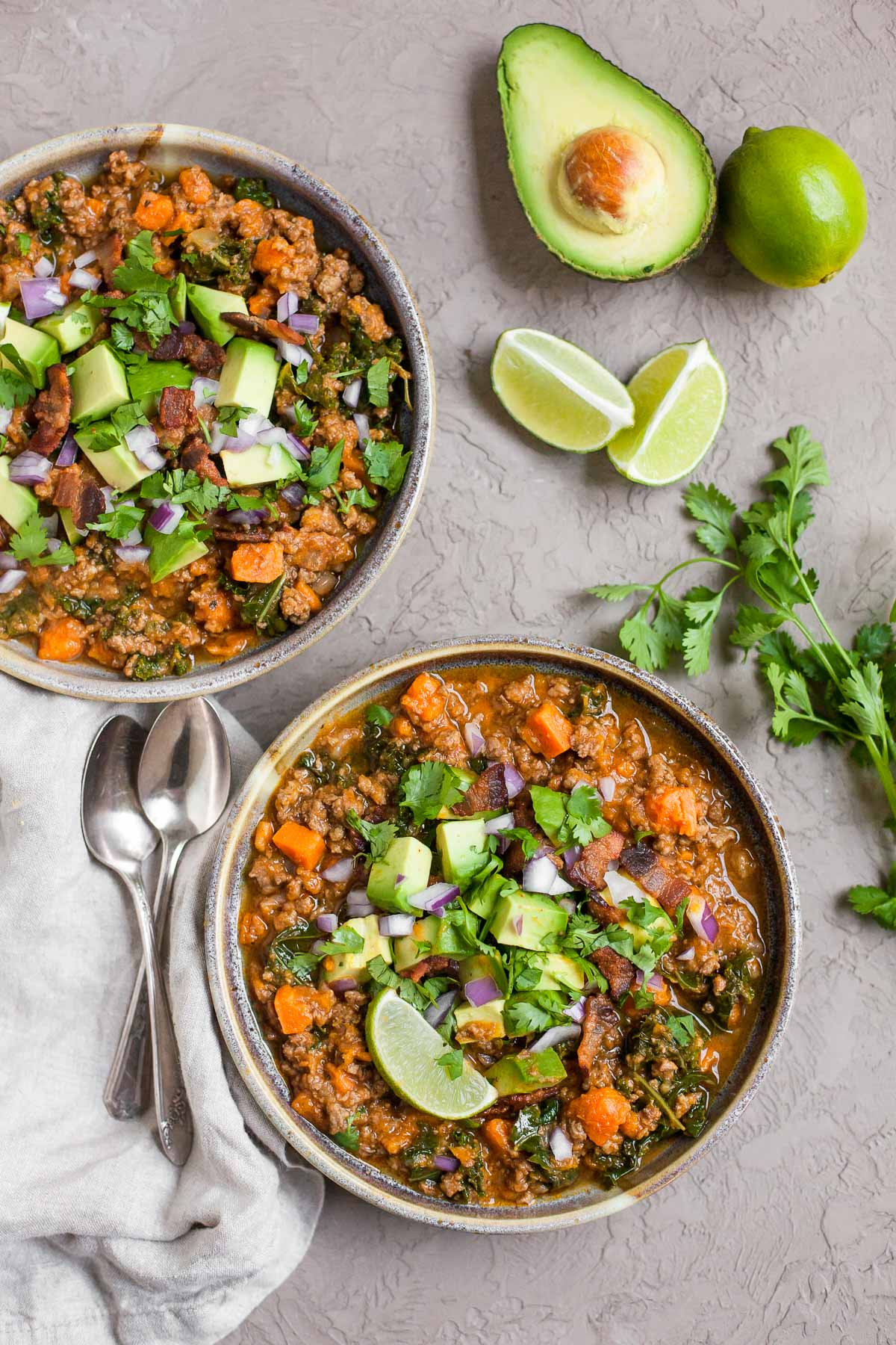 Instant Pot Bacon & Sweet Potato Chili (Paleo, Whole30)