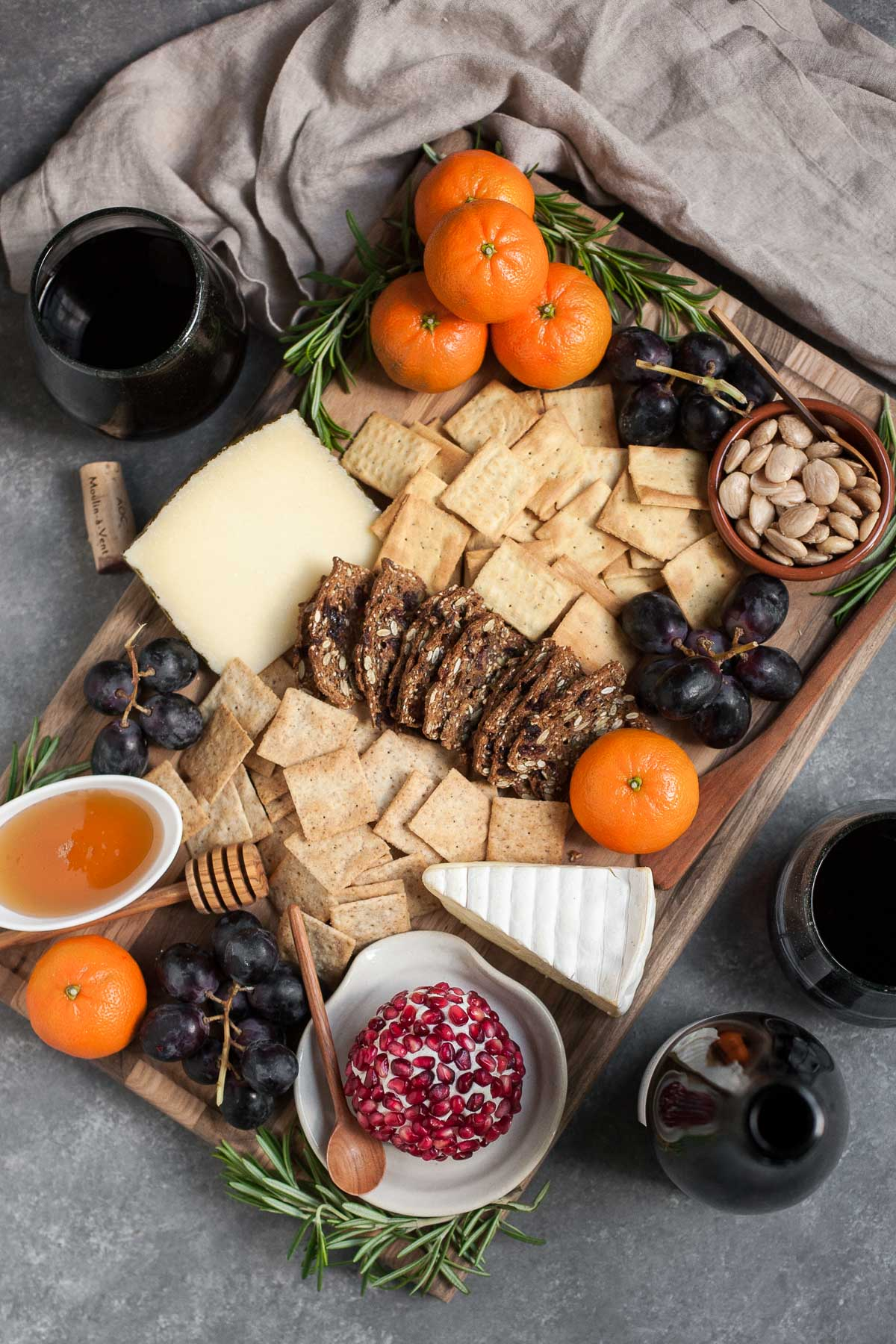 An Easy Winter Cheeseboard + Beaujolais Wine