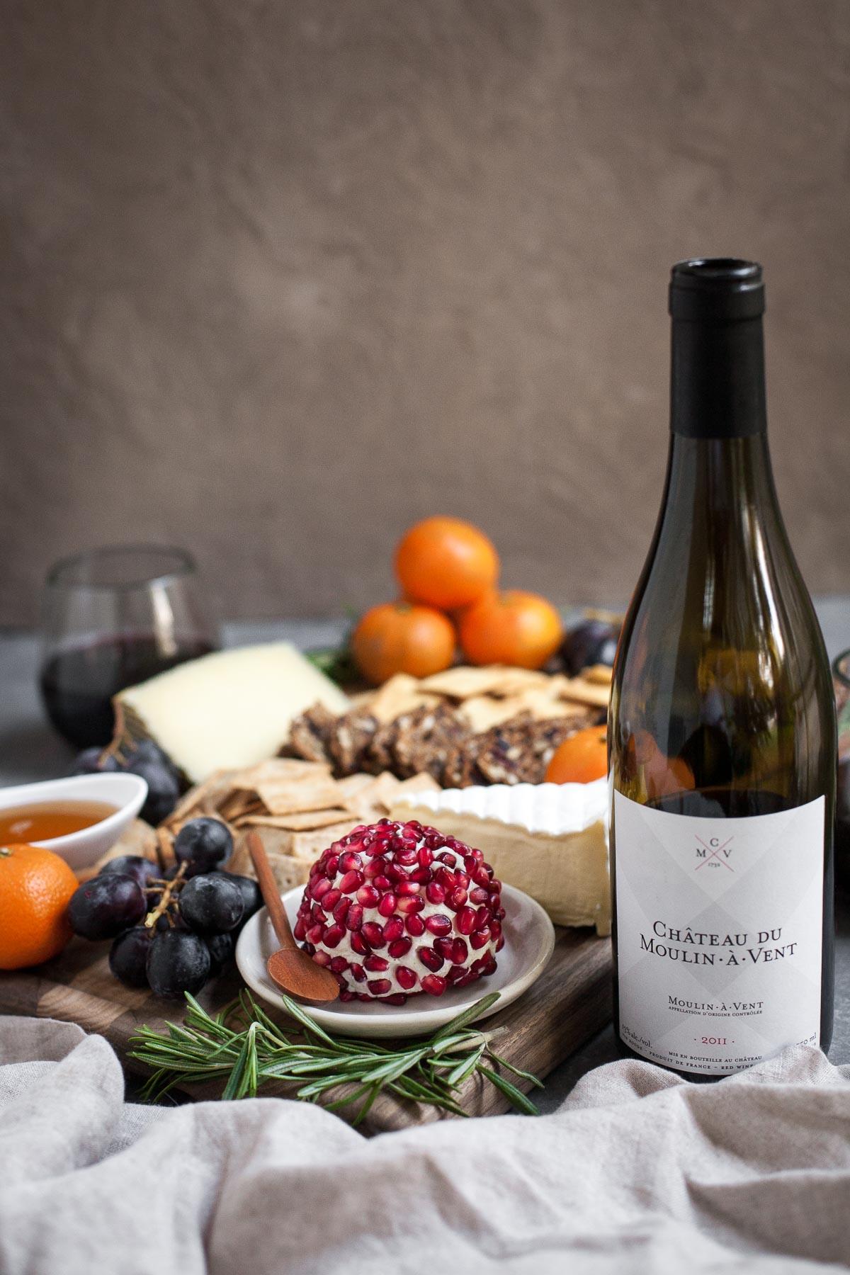 An Easy Winter Cheeseboard + Beaujolais Wine