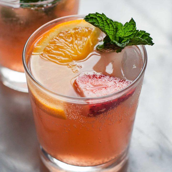 Strawberry Orange Ginger Fizz