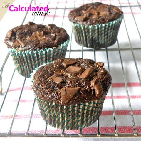 Double Chocolate Zucchini Muffins (Gluten free, Paleo)