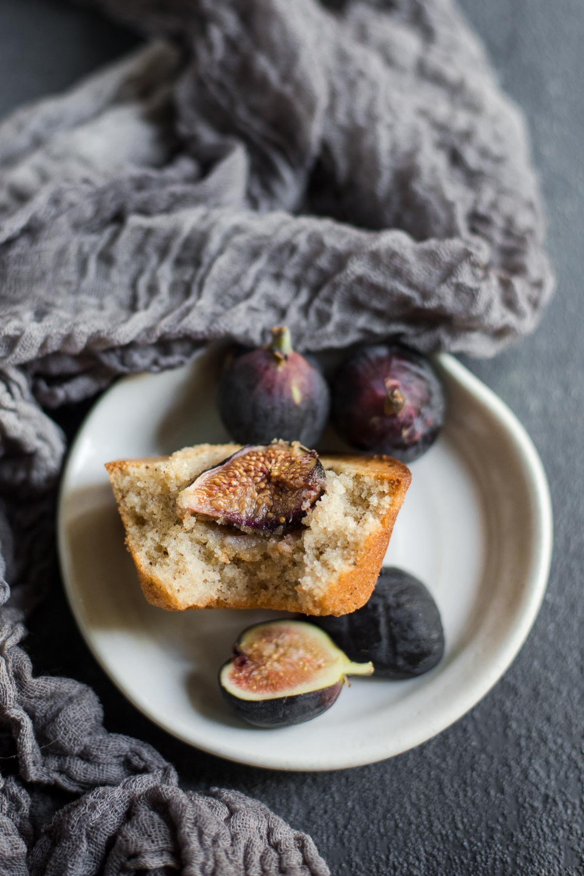 Gluten-free Financiers with Figs made with brown butter and almond flour (Grain free)