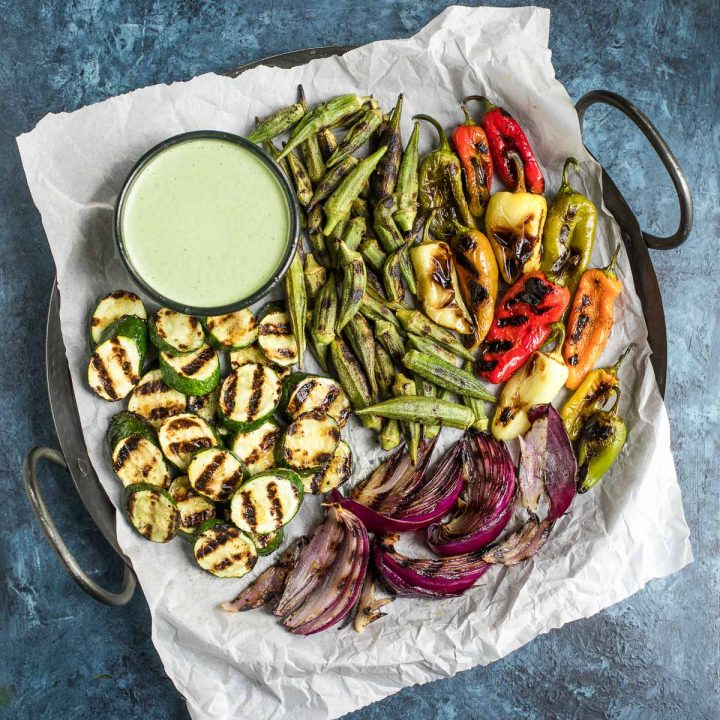 Grilled Vegetables with Jalapeño Aioli