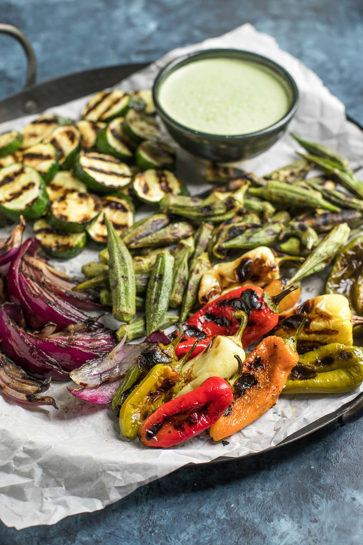 Grilled Vegetables with Jalapeño Aioli (Whole30, Vegetarian, Paleo)