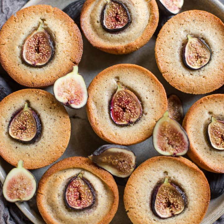 Gluten-free Financiers with Figs