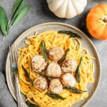 Pumpkin Alfredo with Seared Alaska Scallops