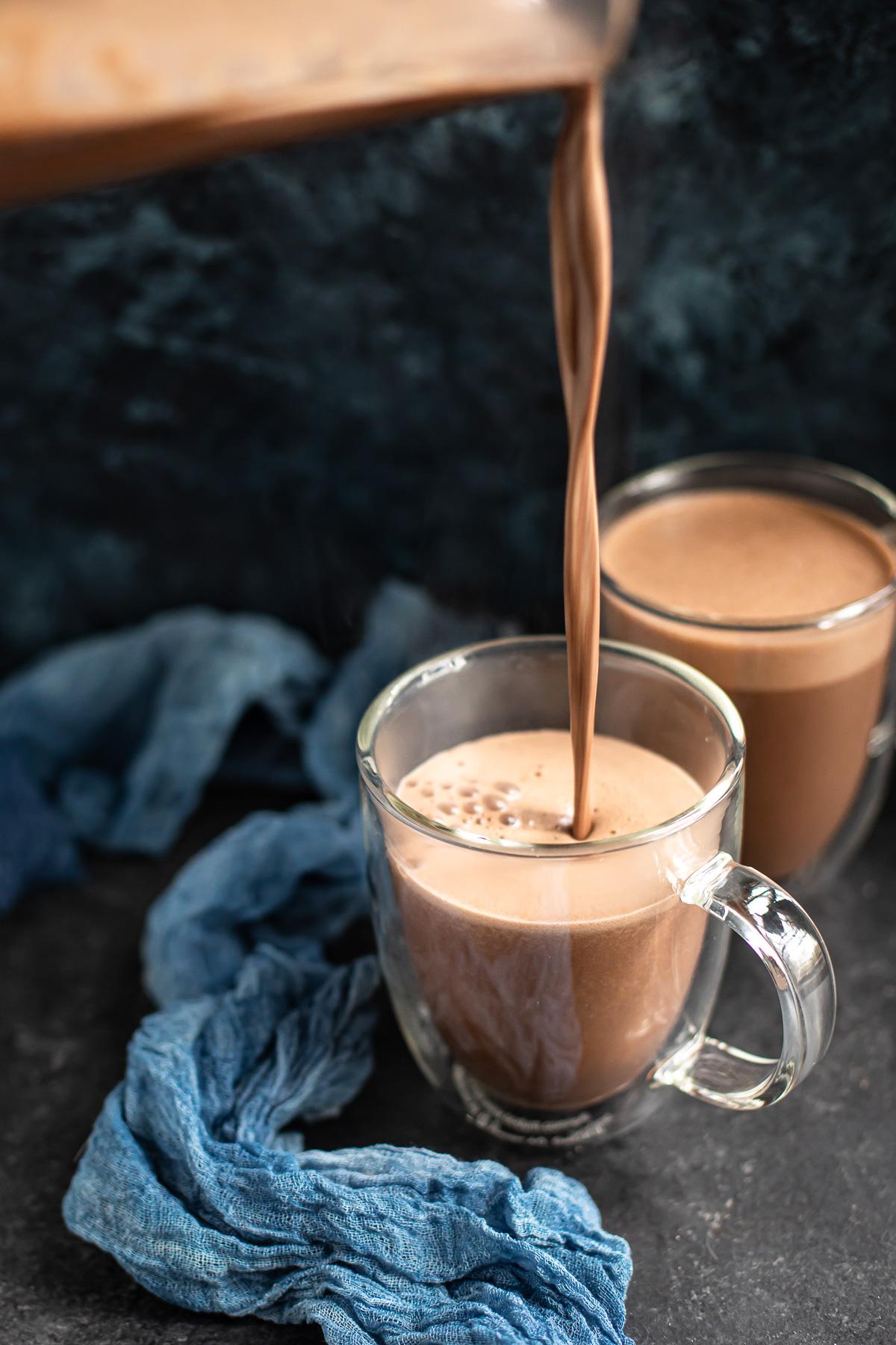 Cashew Hot Chocolate (Paleo, Dairy free & Vegan Versions)
