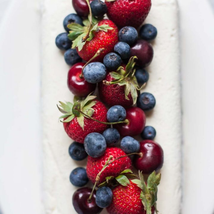 Cherry Berry Ice Cream Loaf