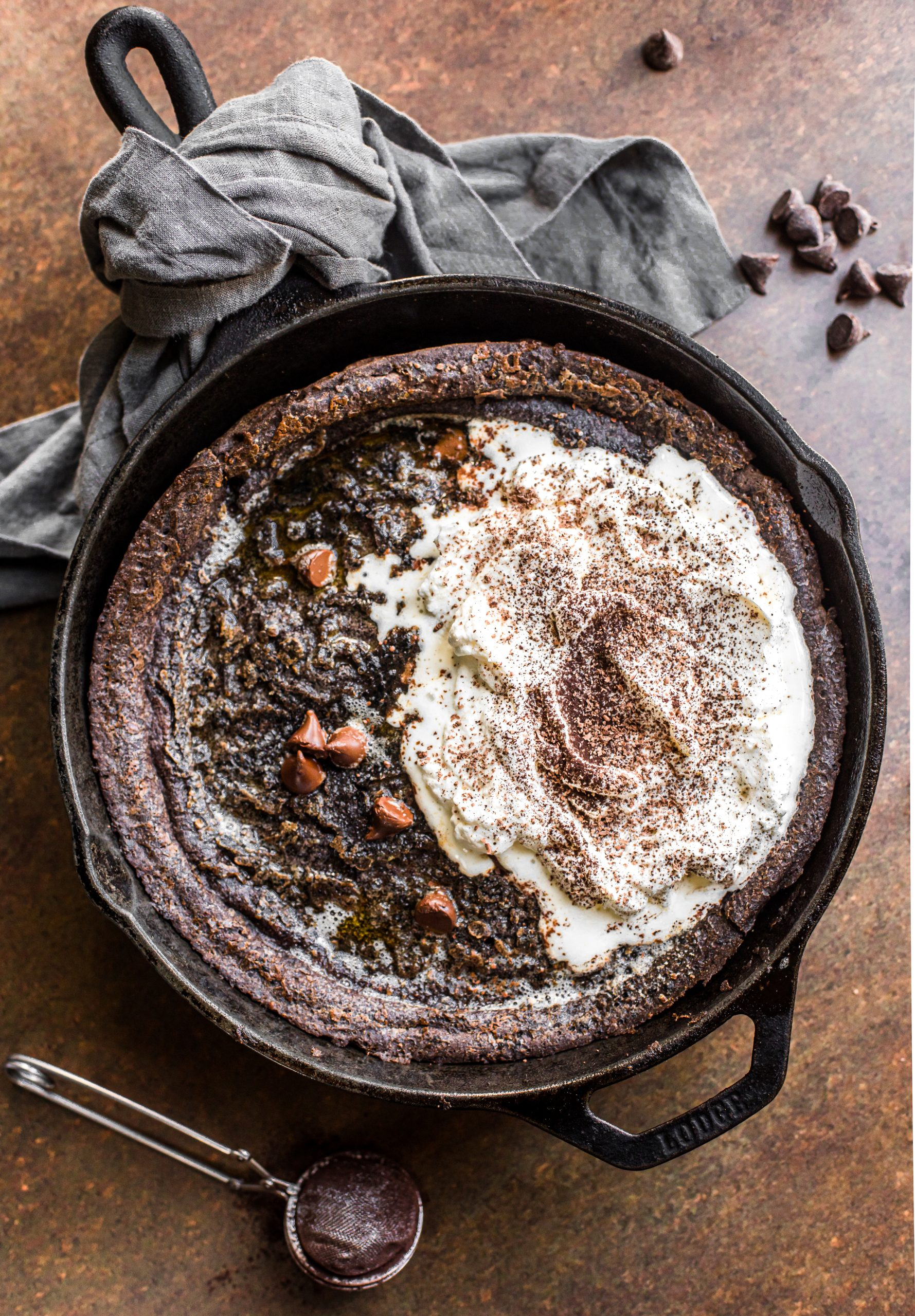 Chocolate Paleo Dutch Baby made with almond flour